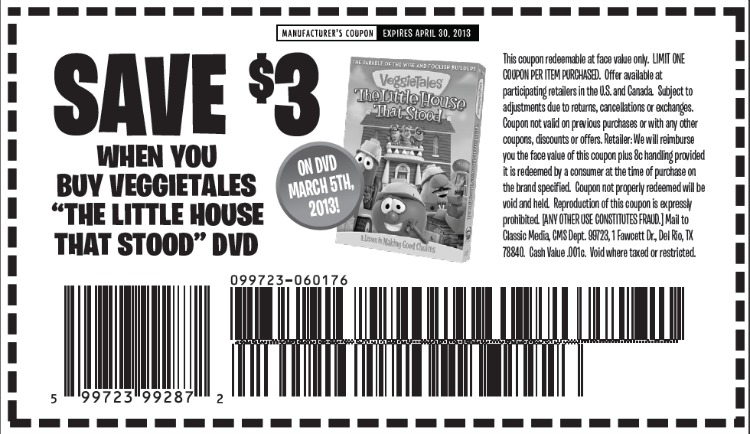 Veggie Tales Coupon