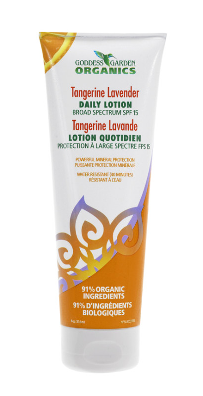 organic lotion with spf